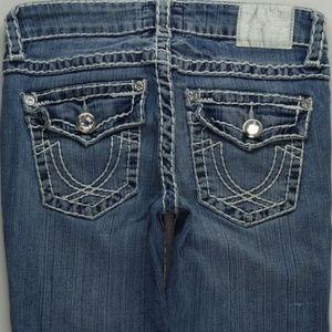 LA Idol Capri Crop Jeans Juniors 5 Embellish A238J